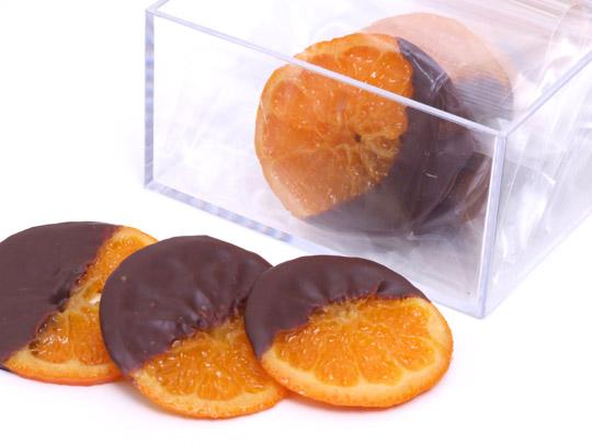 オレンジスライスのみりん蜜煮チョコレートがけ