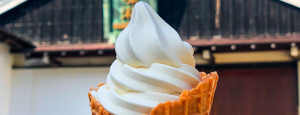 本みりんを使用したソフトクリーム