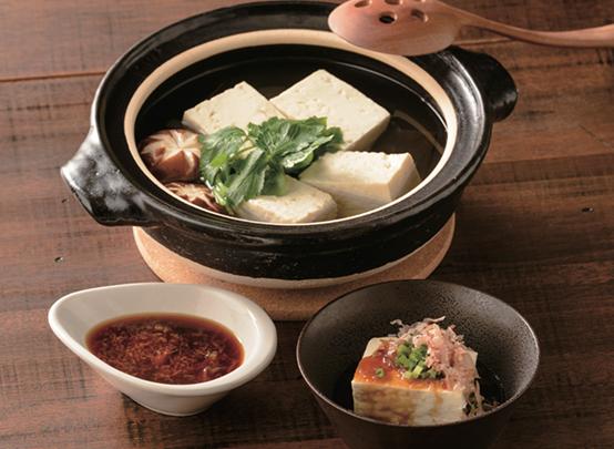 生姜みりんポン酢湯豆腐