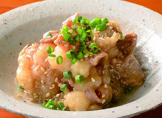 <漬け鶏みそ焼き 白味噌 アレンジレシピ> 牛ホルモンの白味噌焼き